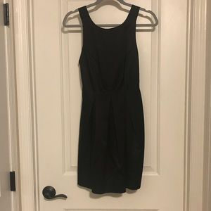 Black semi formal dress with large bow back.